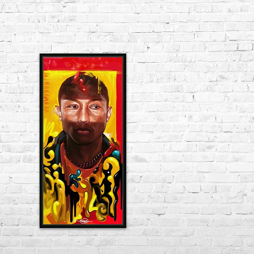 PHARELL WILLIAMS HD Sublimation Metal print with Decorating Float Frame (BOX)