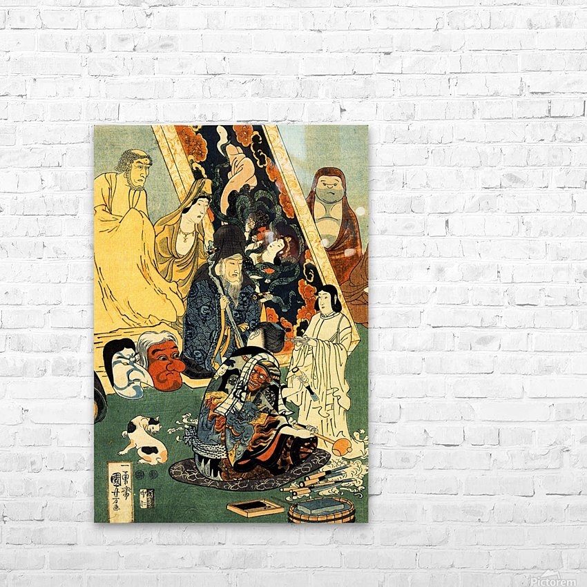 Sculptor Jingoro surrounded by statues HD Sublimation Metal print with Decorating Float Frame (BOX)