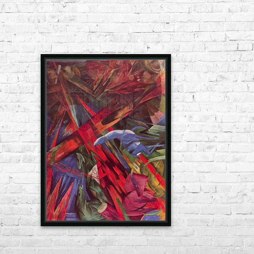 Animal Fates by Franz Marc HD Sublimation Metal print with Decorating Float Frame (BOX)