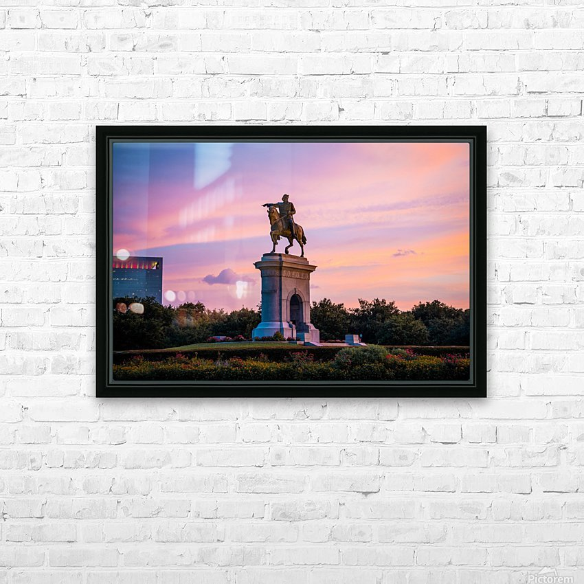 Sam Houston Herman Park HD Sublimation Metal print with Decorating Float Frame (BOX)