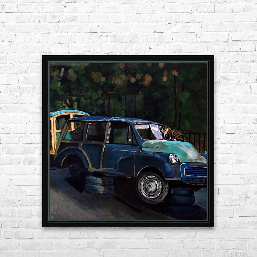 Sea Food HD Sublimation Metal print with Decorating Float Frame (BOX)