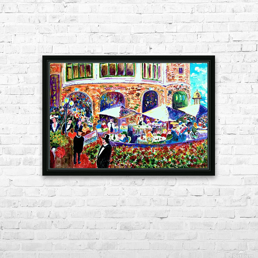 Piggy Bread HD Sublimation Metal print with Decorating Float Frame (BOX)