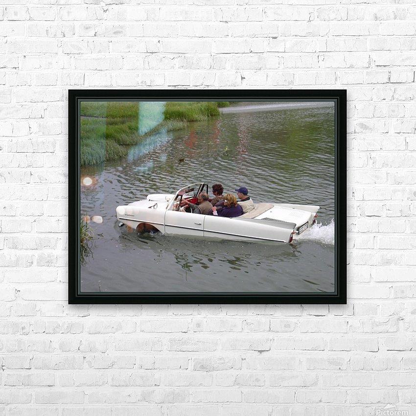 Amphicar model Unique amphibious model car HD Sublimation Metal print with Decorating Float Frame (BOX)