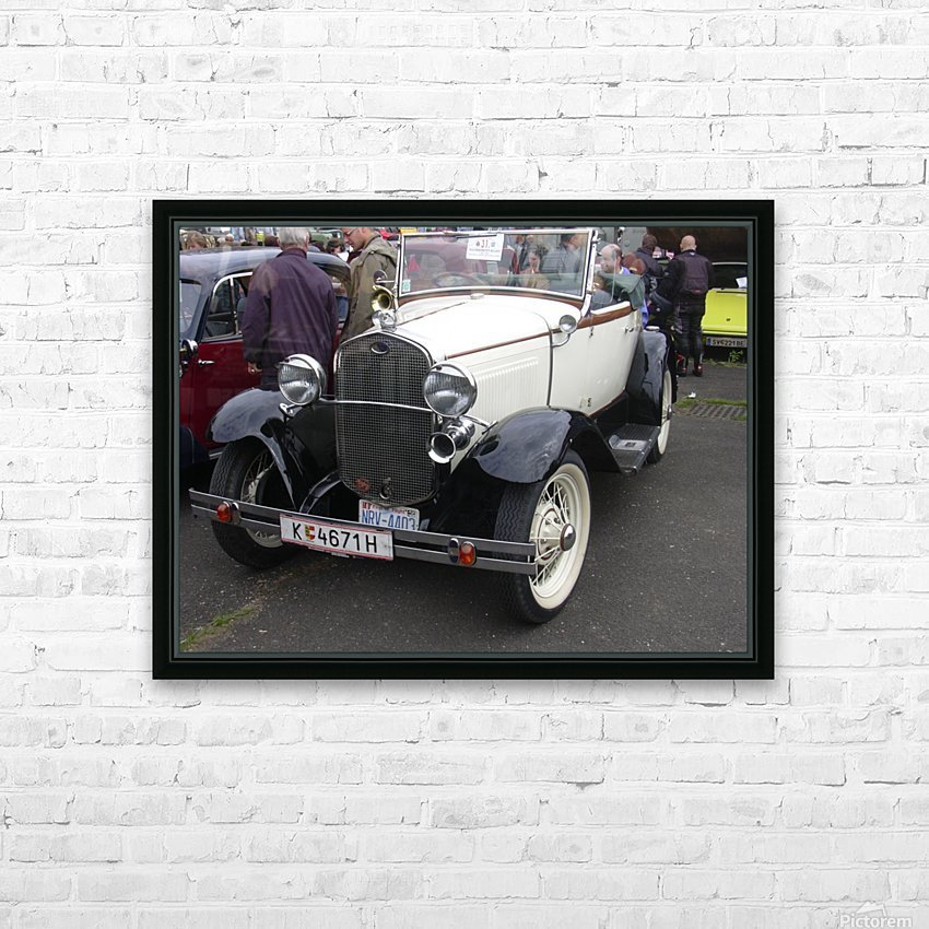 Vintage car in italian exposition HD Sublimation Metal print with Decorating Float Frame (BOX)