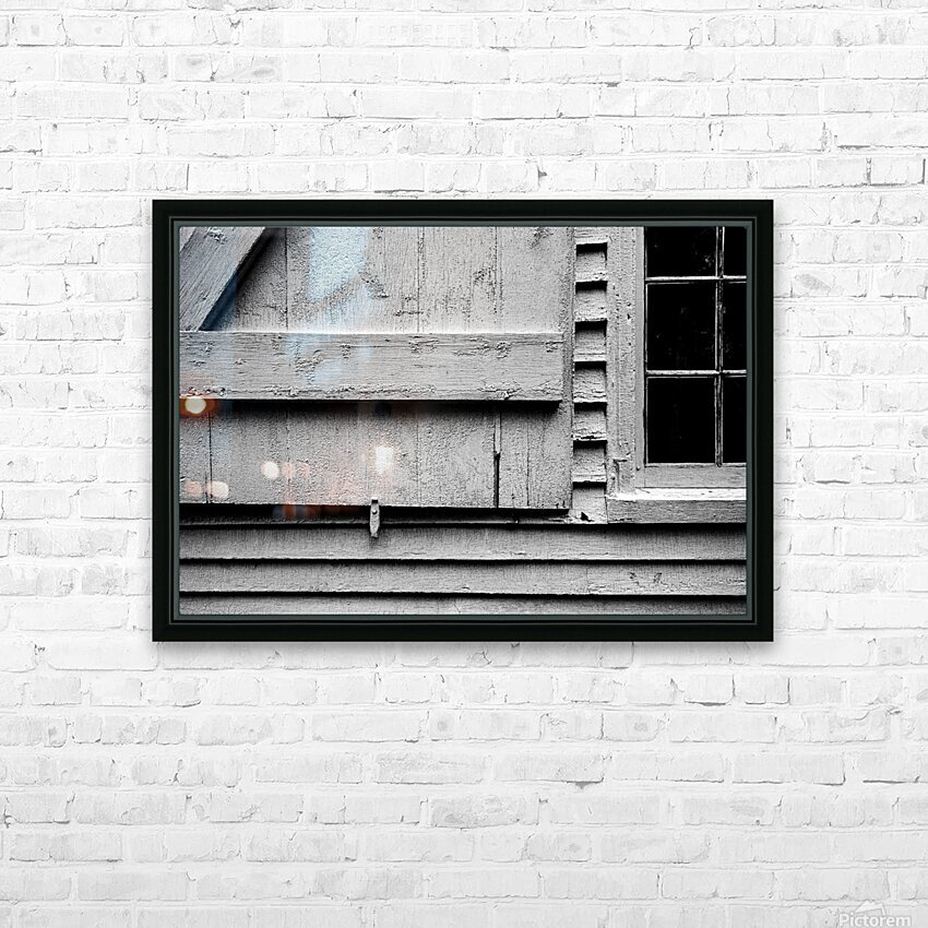 Shutter and Panes HD Sublimation Metal print with Decorating Float Frame (BOX)