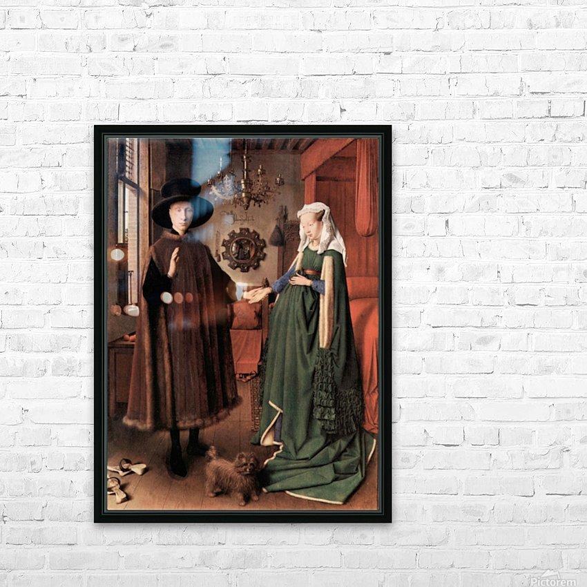 Arnolfini Wedding by Jan Van Eyck HD Sublimation Metal print with Decorating Float Frame (BOX)