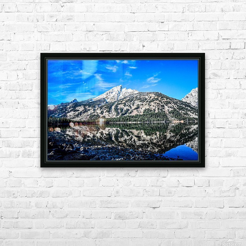 Teton reflection in Jenny lake HD Sublimation Metal print with Decorating Float Frame (BOX)