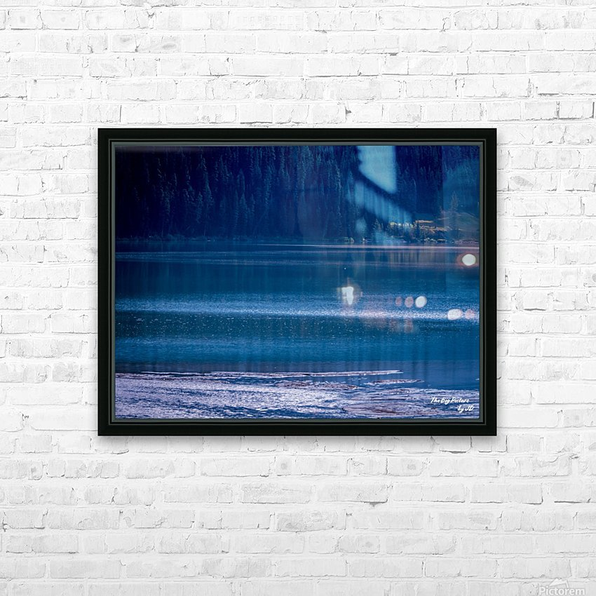 Rocky Mountains Deep Blue HD Sublimation Metal print with Decorating Float Frame (BOX)
