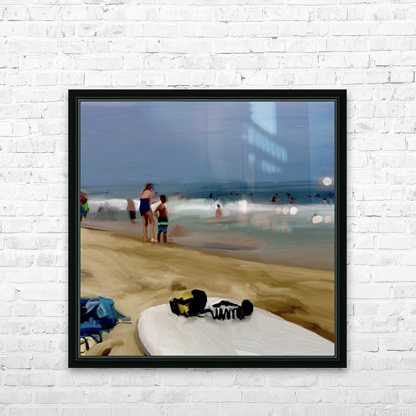 Beach at 52nd Street HD Sublimation Metal print with Decorating Float Frame (BOX)