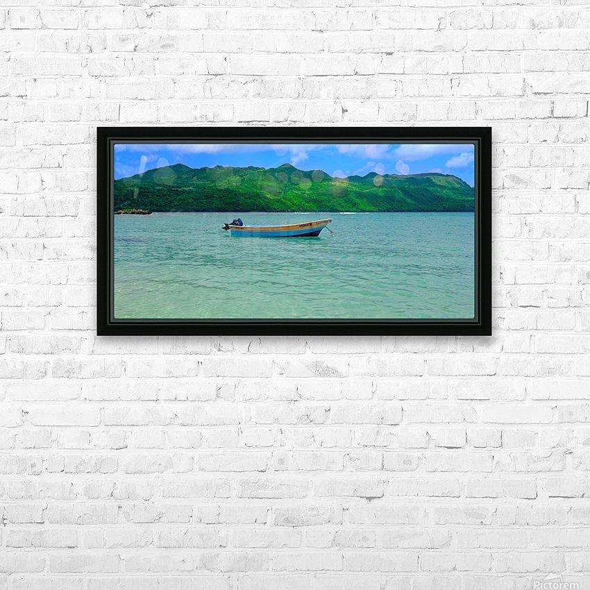 Samana Beach - Playa Rincon  HD Sublimation Metal print with Decorating Float Frame (BOX)