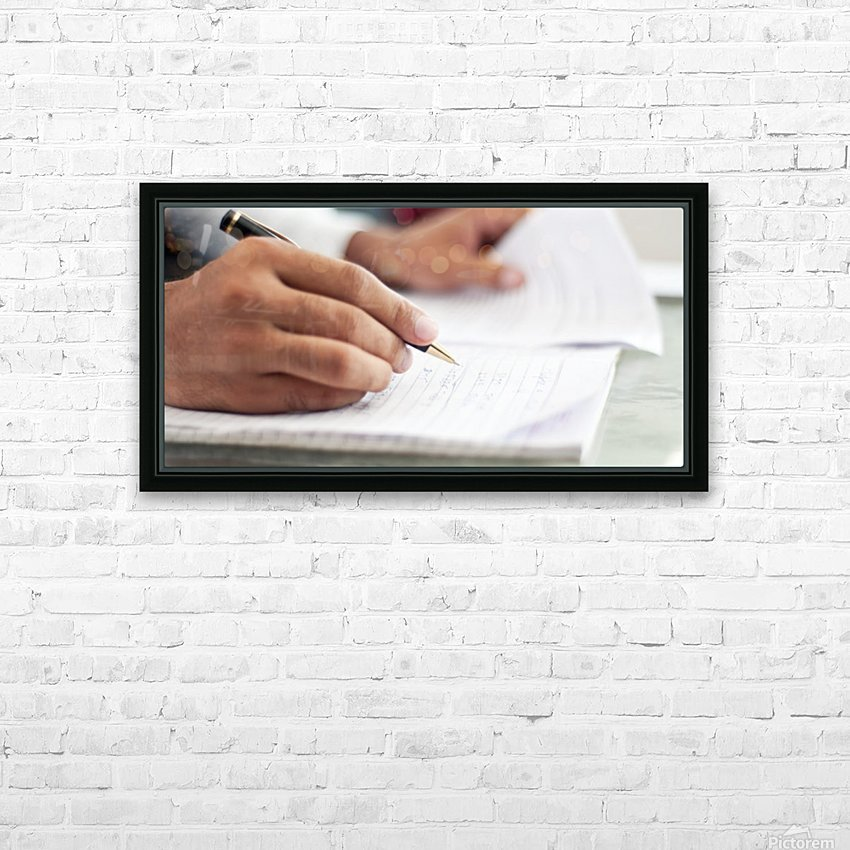 Writing Essays HD Sublimation Metal print with Decorating Float Frame (BOX)