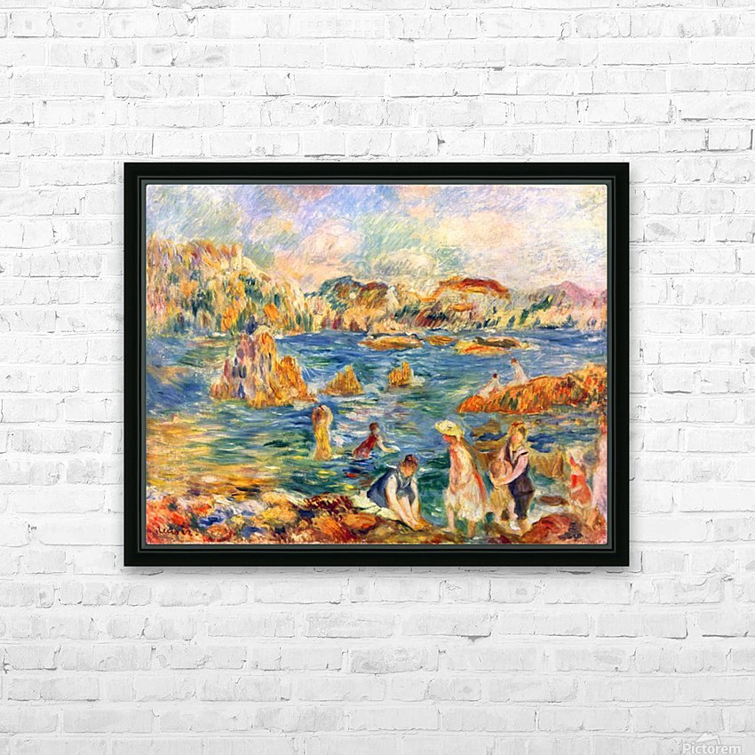 At the beach of Guernesey by Sisley HD Sublimation Metal print with Decorating Float Frame (BOX)