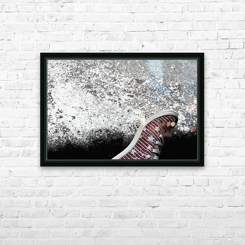 Shoes On HD Sublimation Metal print with Decorating Float Frame (BOX)