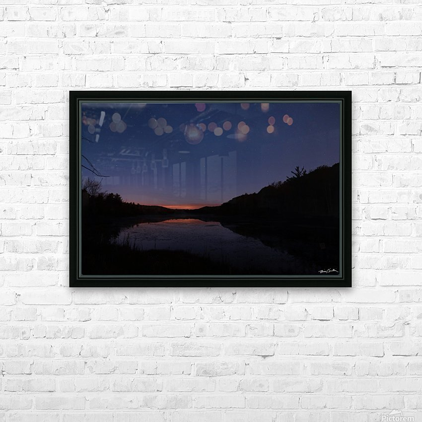 Starlit Pond HD Sublimation Metal print with Decorating Float Frame (BOX)
