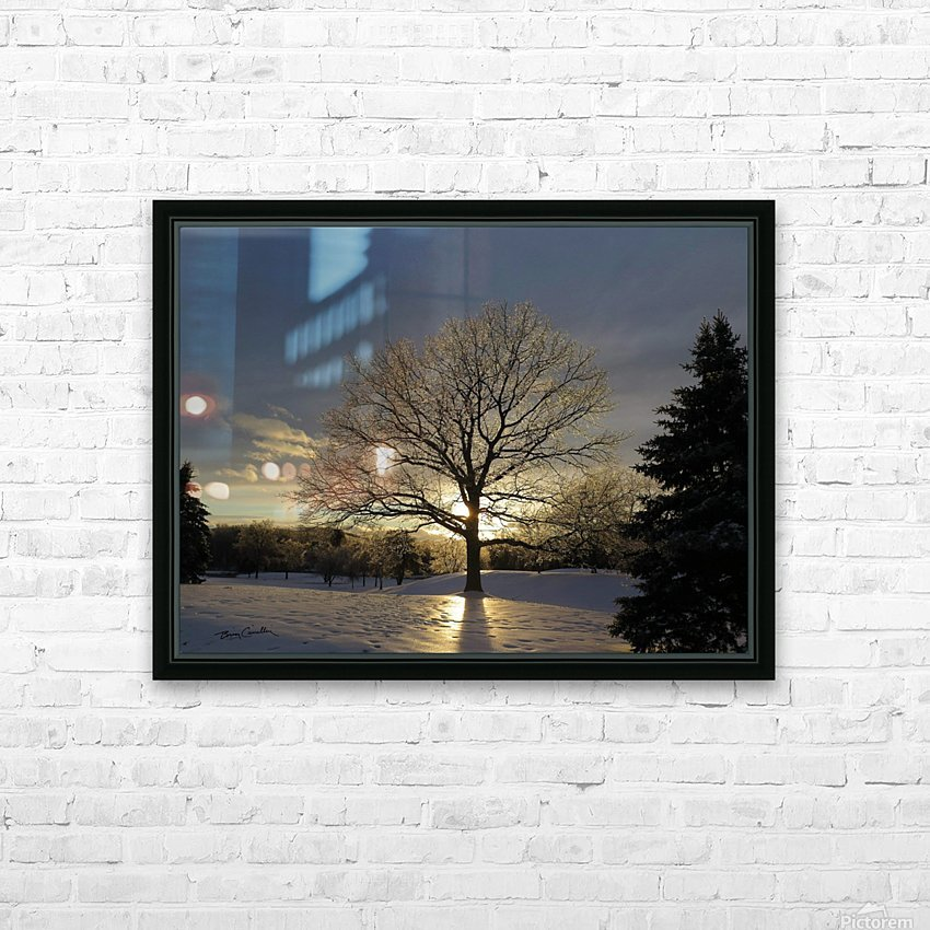 Winter Oak HD Sublimation Metal print with Decorating Float Frame (BOX)