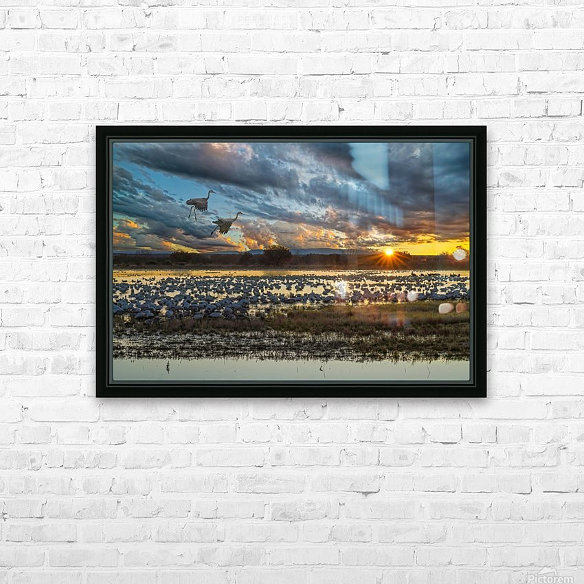 Sunrise at the Bosque HD Sublimation Metal print with Decorating Float Frame (BOX)