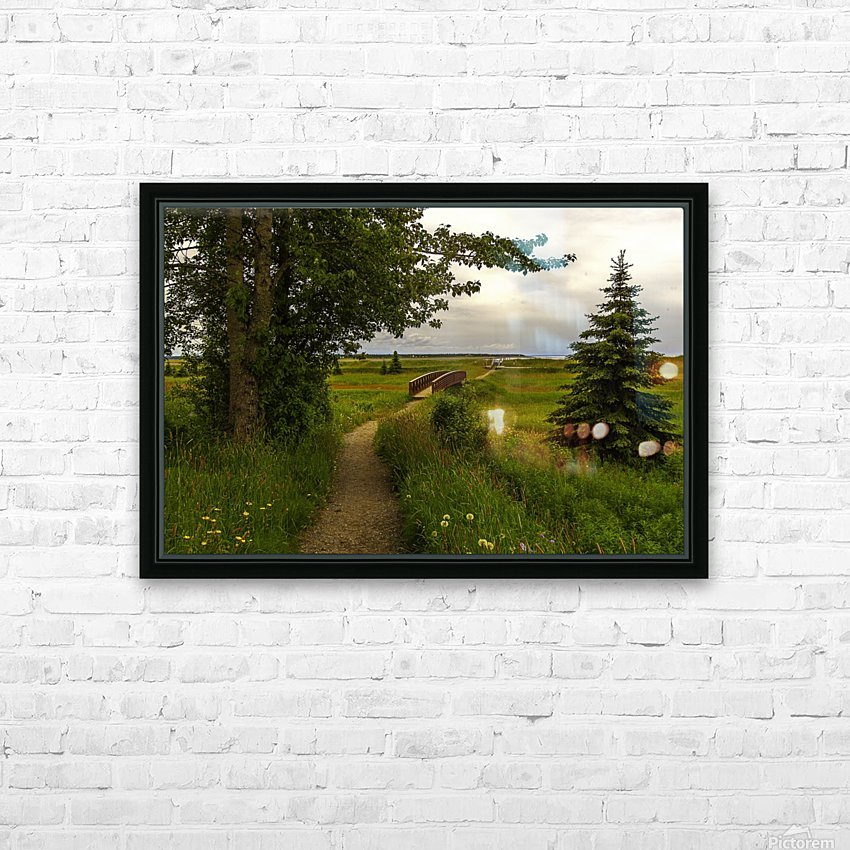 Walking Home HD Sublimation Metal print with Decorating Float Frame (BOX)