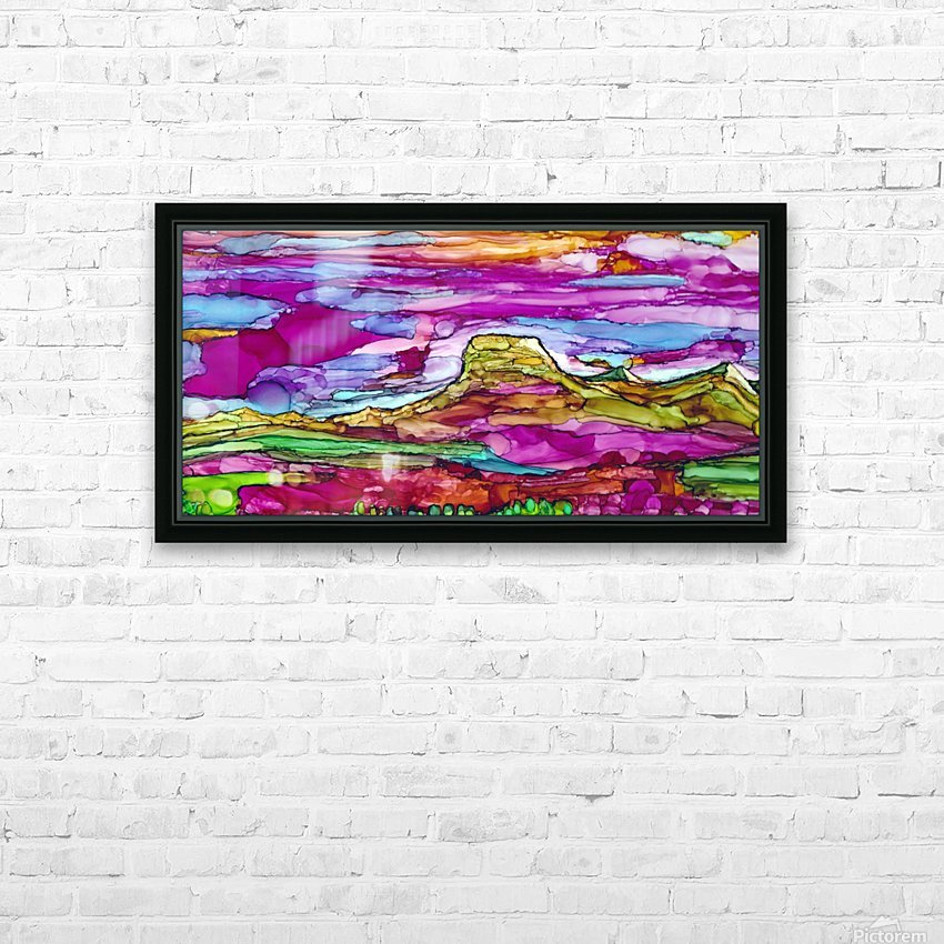 Chief Mountain Sunset  HD Sublimation Metal print with Decorating Float Frame (BOX)