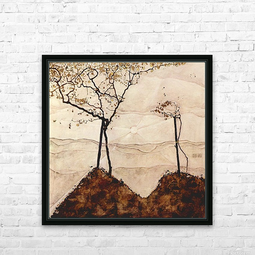 Autumn sun and trees by Schiele HD Sublimation Metal print with Decorating Float Frame (BOX)