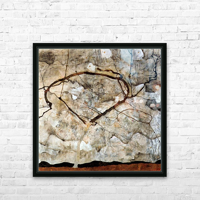 Autumn tree in the wind Schiele HD Sublimation Metal print with Decorating Float Frame (BOX)