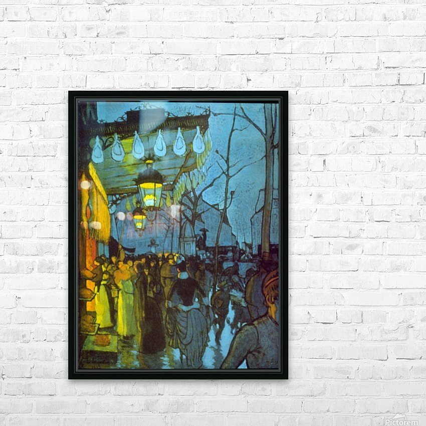 Avenue De Clichy by Anquetin HD Sublimation Metal print with Decorating Float Frame (BOX)