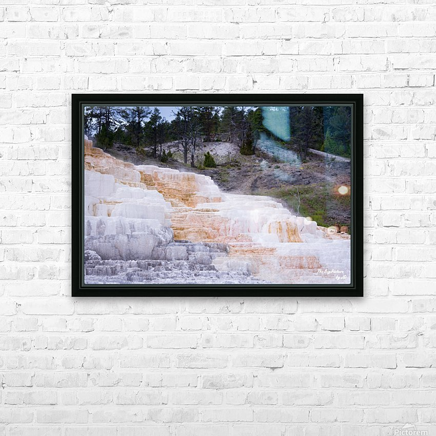 Yellowstone Lower Terrace HD Sublimation Metal print with Decorating Float Frame (BOX)