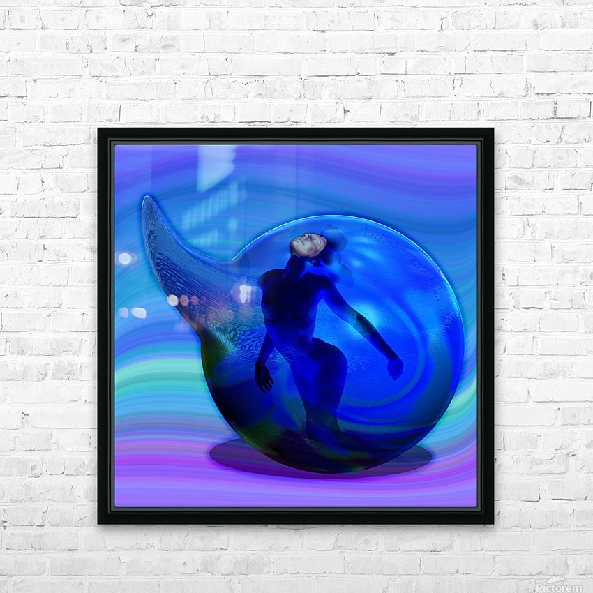 The Birth of Marmaid  HD Sublimation Metal print with Decorating Float Frame (BOX)