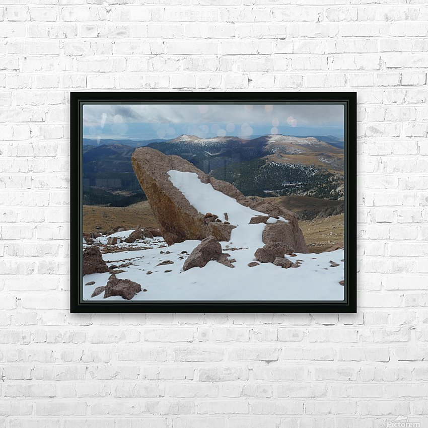 Pikes Peak Colorado  HD Sublimation Metal print with Decorating Float Frame (BOX)