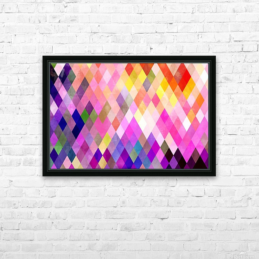 Geometry of Life HD Sublimation Metal print with Decorating Float Frame (BOX)