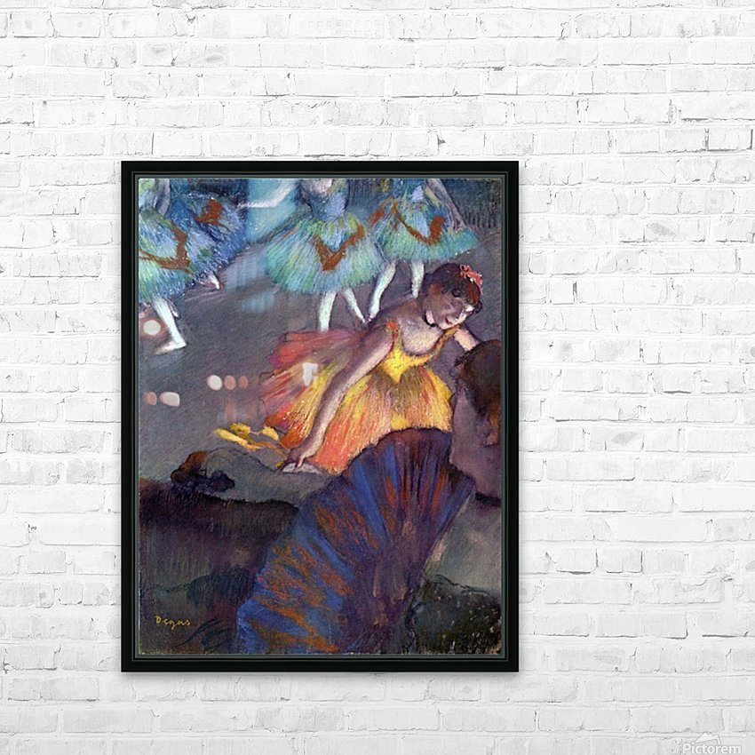Ballet, from a box view by Degas HD Sublimation Metal print with Decorating Float Frame (BOX)