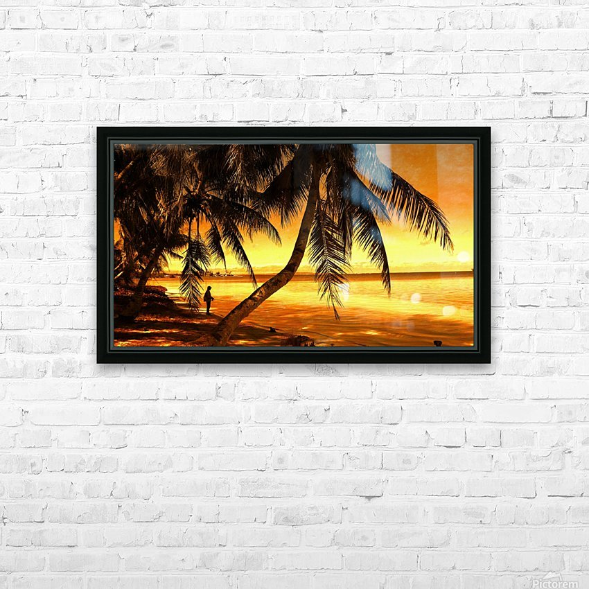 Fiery Hour Saipan HD Sublimation Metal print with Decorating Float Frame (BOX)