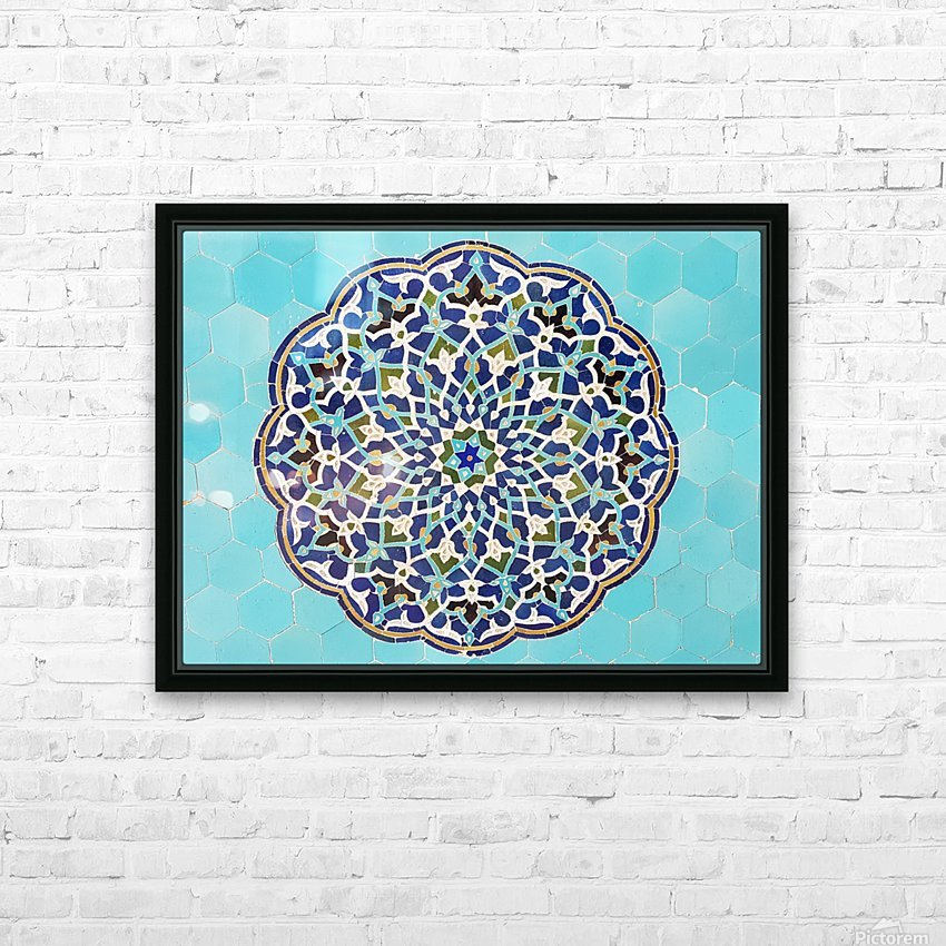 Yazd   Jameh mosque 2 HD Sublimation Metal print with Decorating Float Frame (BOX)