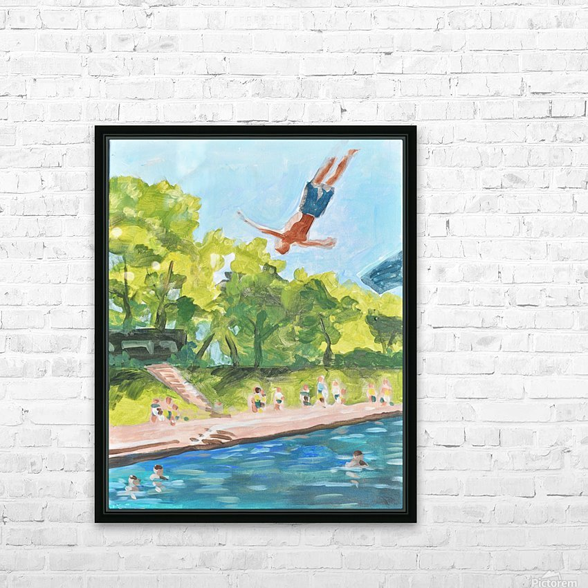 Barton Springs. Zach C HD Sublimation Metal print with Decorating Float Frame (BOX)