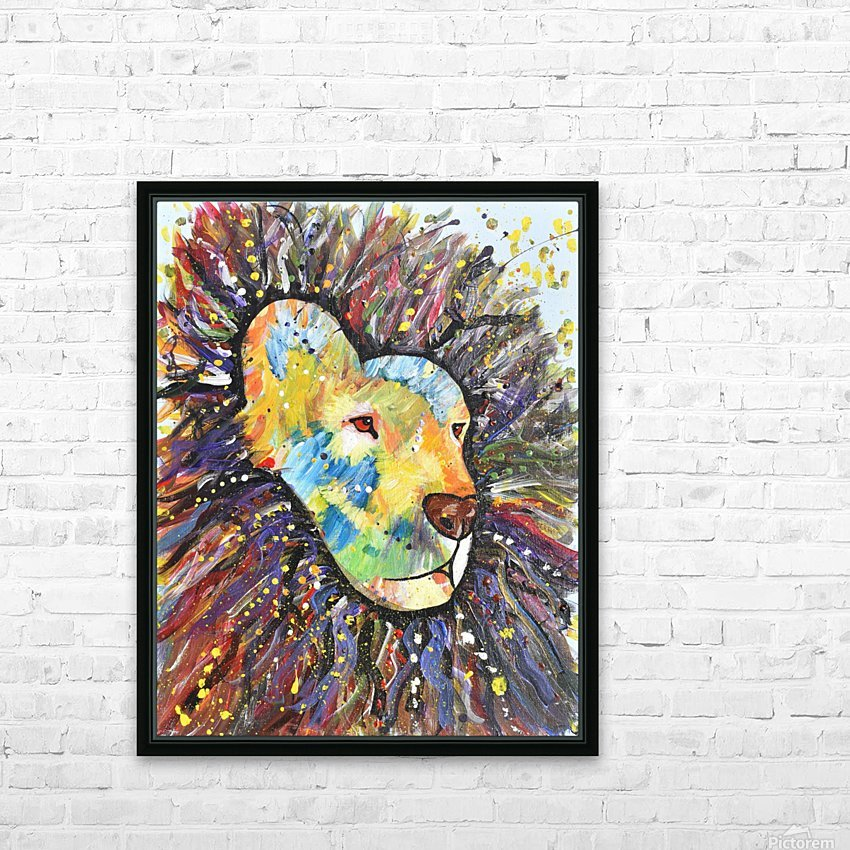 Lively Lion.Maggie Z HD Sublimation Metal print with Decorating Float Frame (BOX)