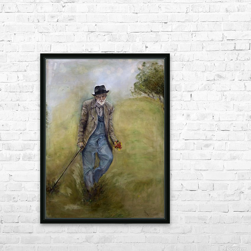 Old_Man_High_Res HD Sublimation Metal print with Decorating Float Frame (BOX)