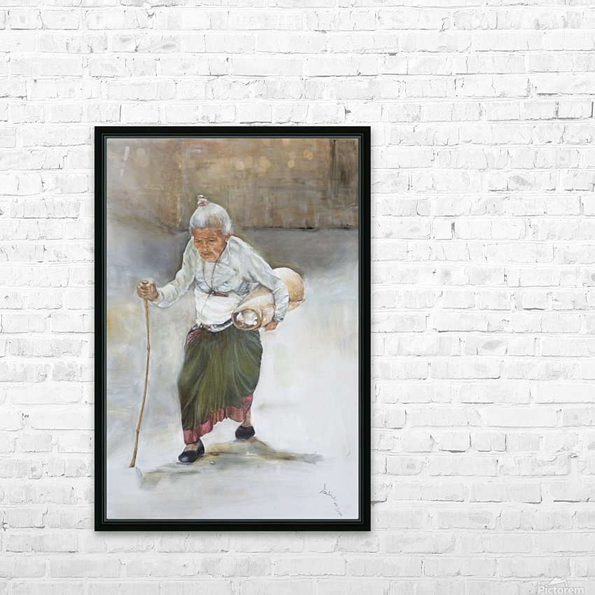 Old_Woman_High_Res HD Sublimation Metal print with Decorating Float Frame (BOX)