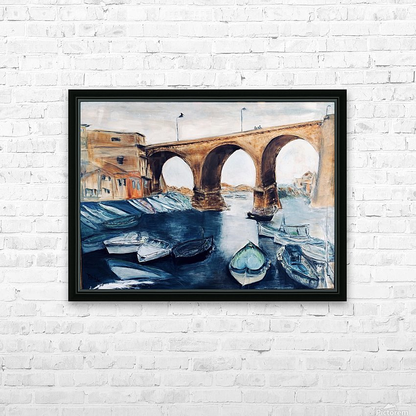 Marseille HD Sublimation Metal print with Decorating Float Frame (BOX)