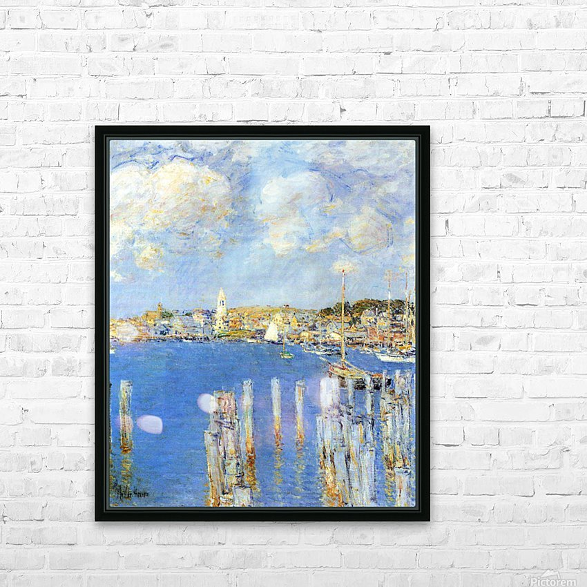 The inland port of Gloucester by Hassam HD Sublimation Metal print with Decorating Float Frame (BOX)