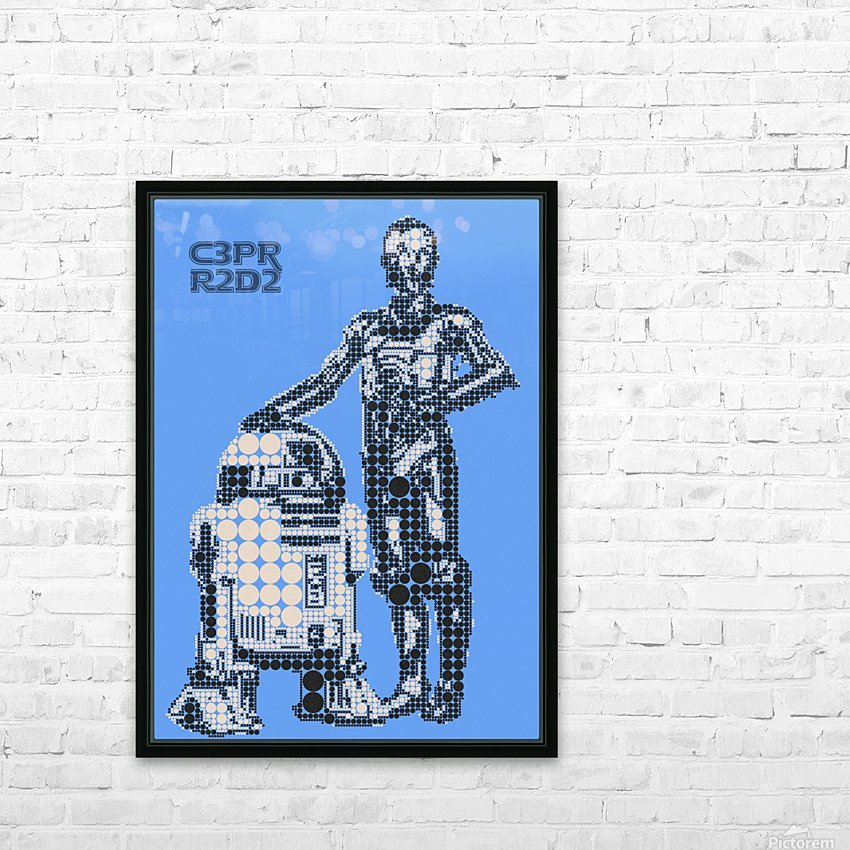 C3PO & R2D2 HD Sublimation Metal print with Decorating Float Frame (BOX)