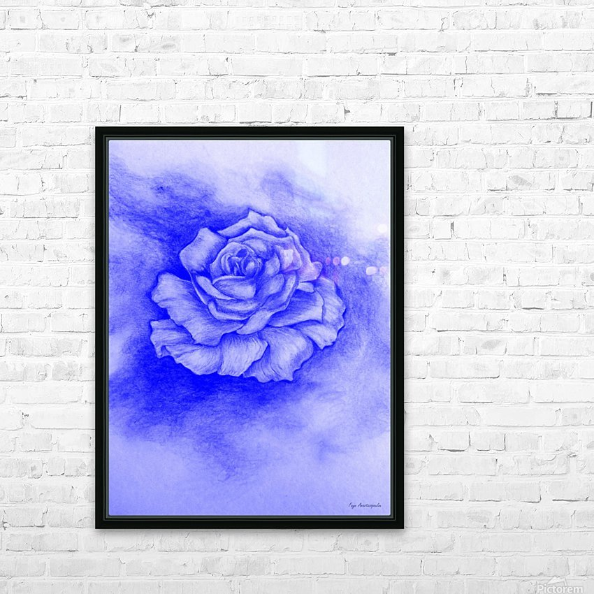 Celestial Rose HD Sublimation Metal print with Decorating Float Frame (BOX)