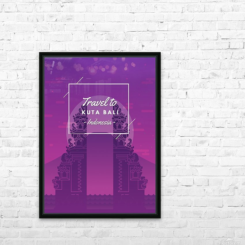 Travel To Kuta Bali   Indonesia HD Sublimation Metal print with Decorating Float Frame (BOX)