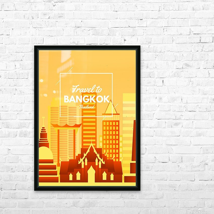 Travel To Bangkok   Thailand HD Sublimation Metal print with Decorating Float Frame (BOX)