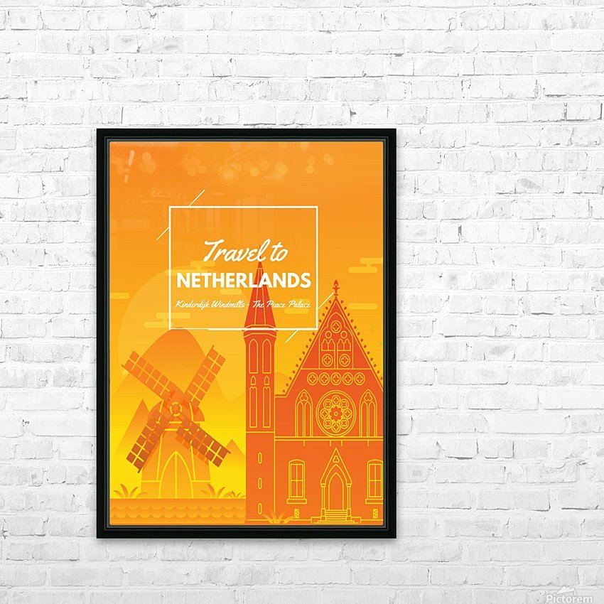 Travel To Netherlands HD Sublimation Metal print with Decorating Float Frame (BOX)