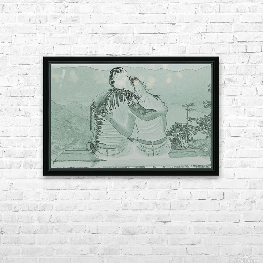 Couple HD Sublimation Metal print with Decorating Float Frame (BOX)