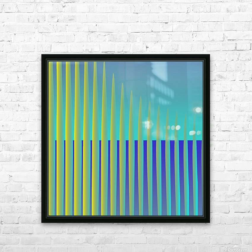 generated_Glitch3 HD Sublimation Metal print with Decorating Float Frame (BOX)