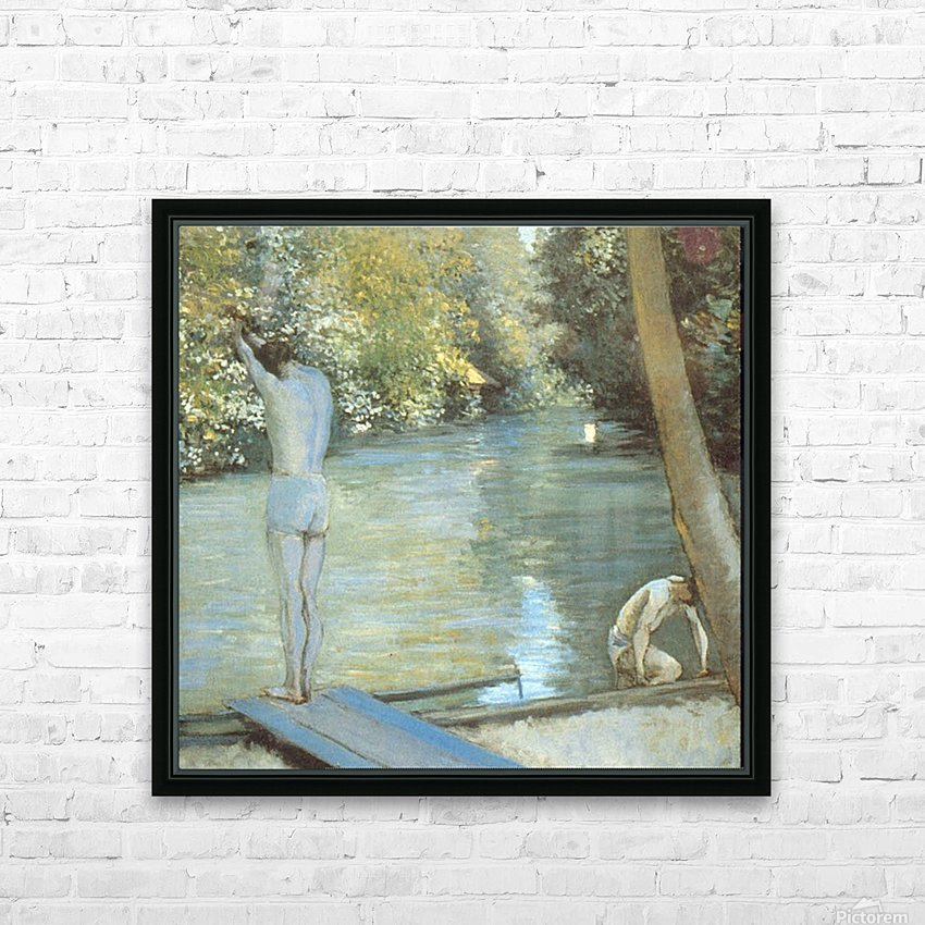 Bathers by Cailiebotte HD Sublimation Metal print with Decorating Float Frame (BOX)