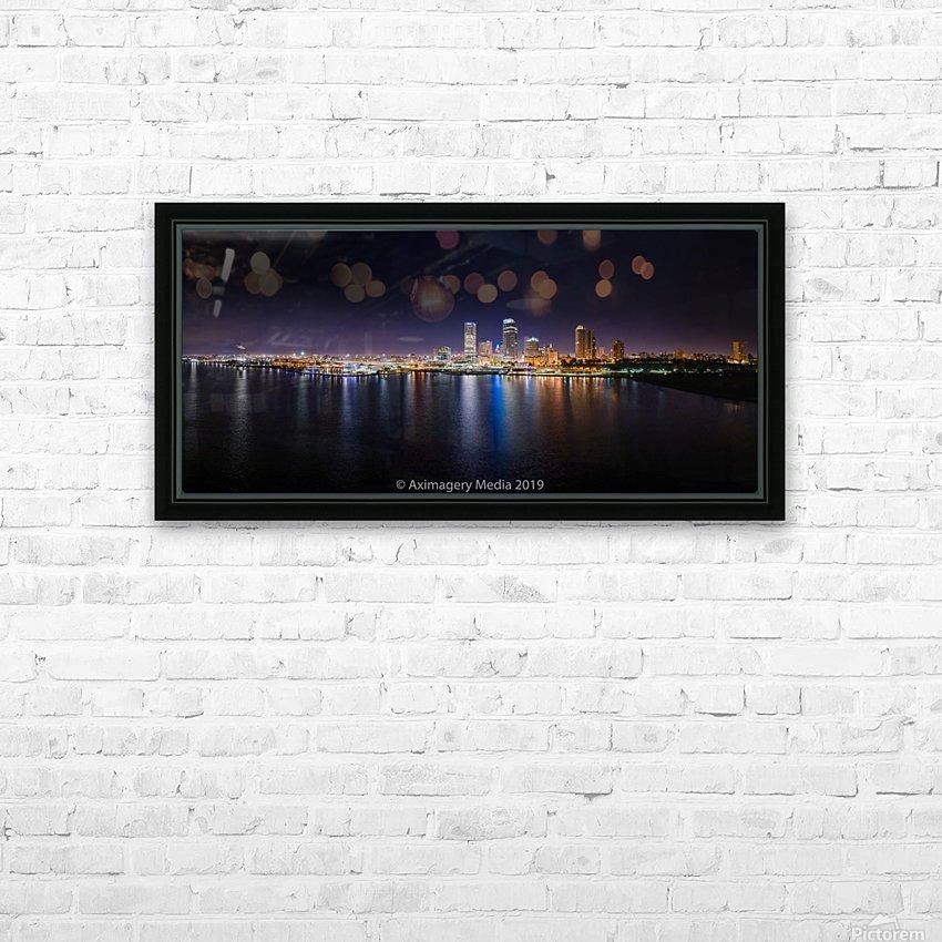 Milwaukee Skyline of Color HD sublimation métal imprimé avec décoration flotteur cadre (boîte)