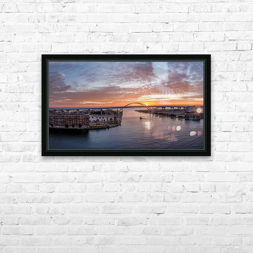 Sunrise Over Hoan HD sublimation métal imprimé avec décoration flotteur cadre (boîte)