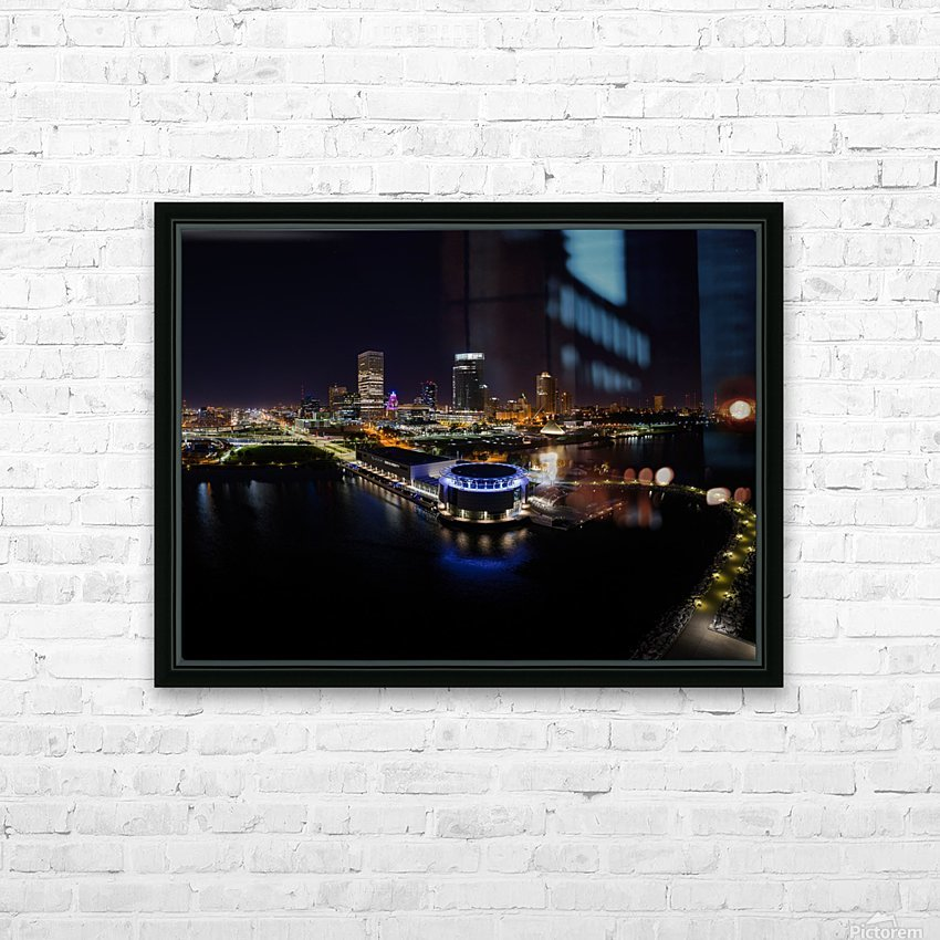 Milwaukee Circle of Lights HD Sublimation Metal print with Decorating Float Frame (BOX)