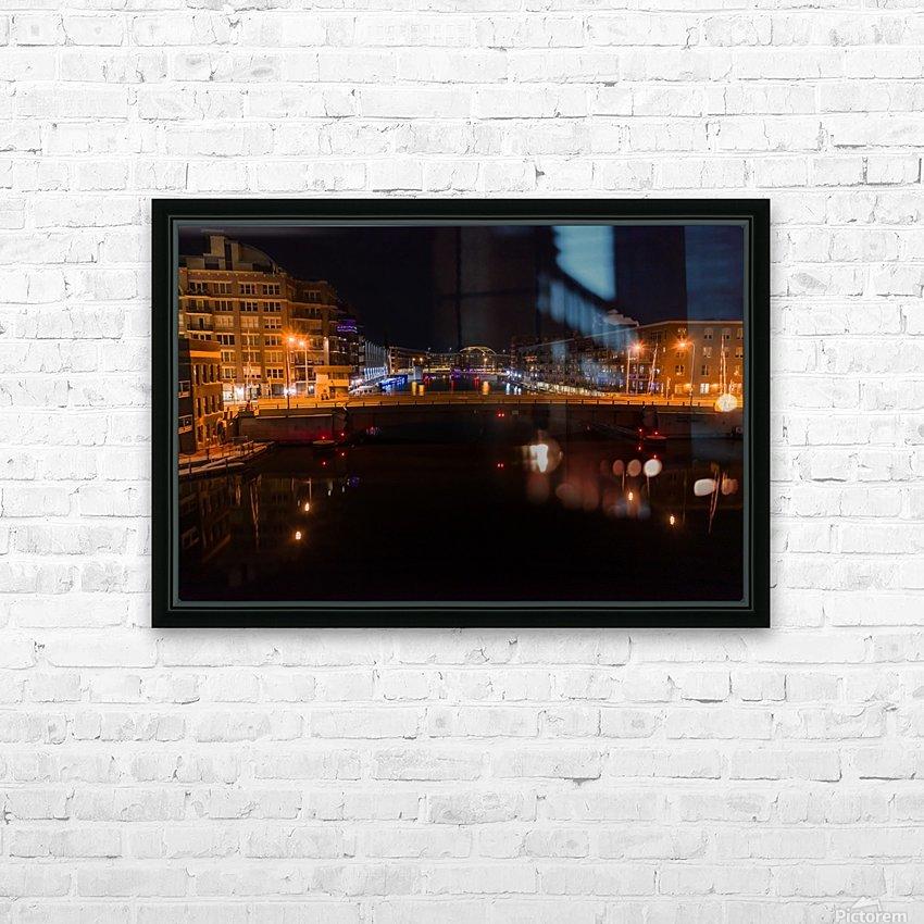 Milwaukee River to The Arches HD sublimation métal imprimé avec décoration flotteur cadre (boîte)